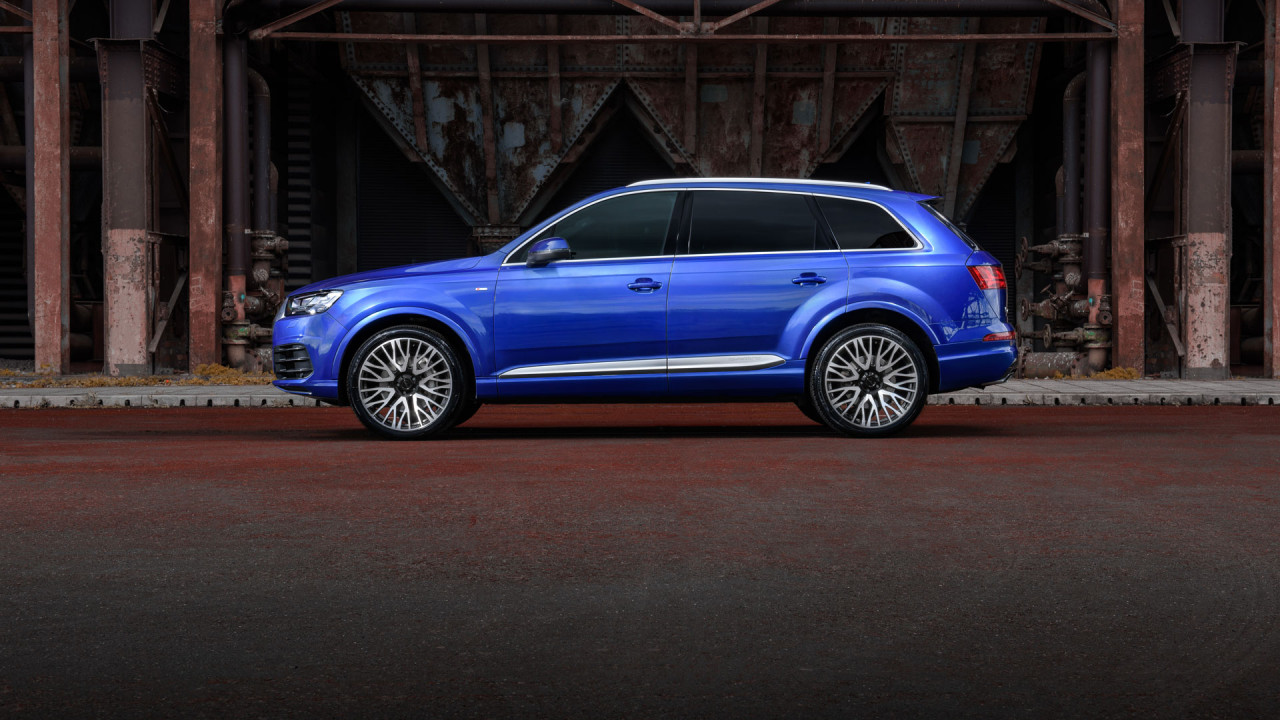 audi q7 blue velare wheels left
