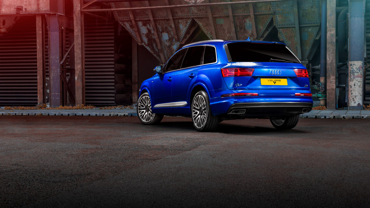 blue audi q7 2018 velare wheels wipdesigns automotive photographer