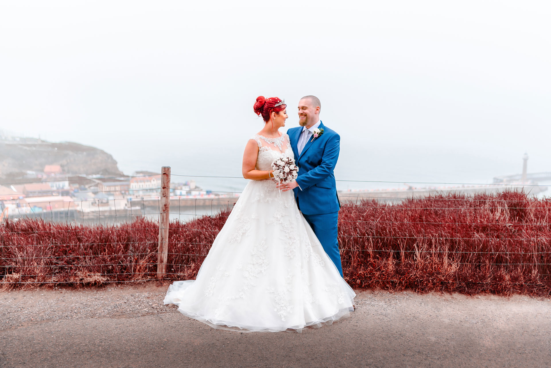 hannah and richard adams wedding photography whitby