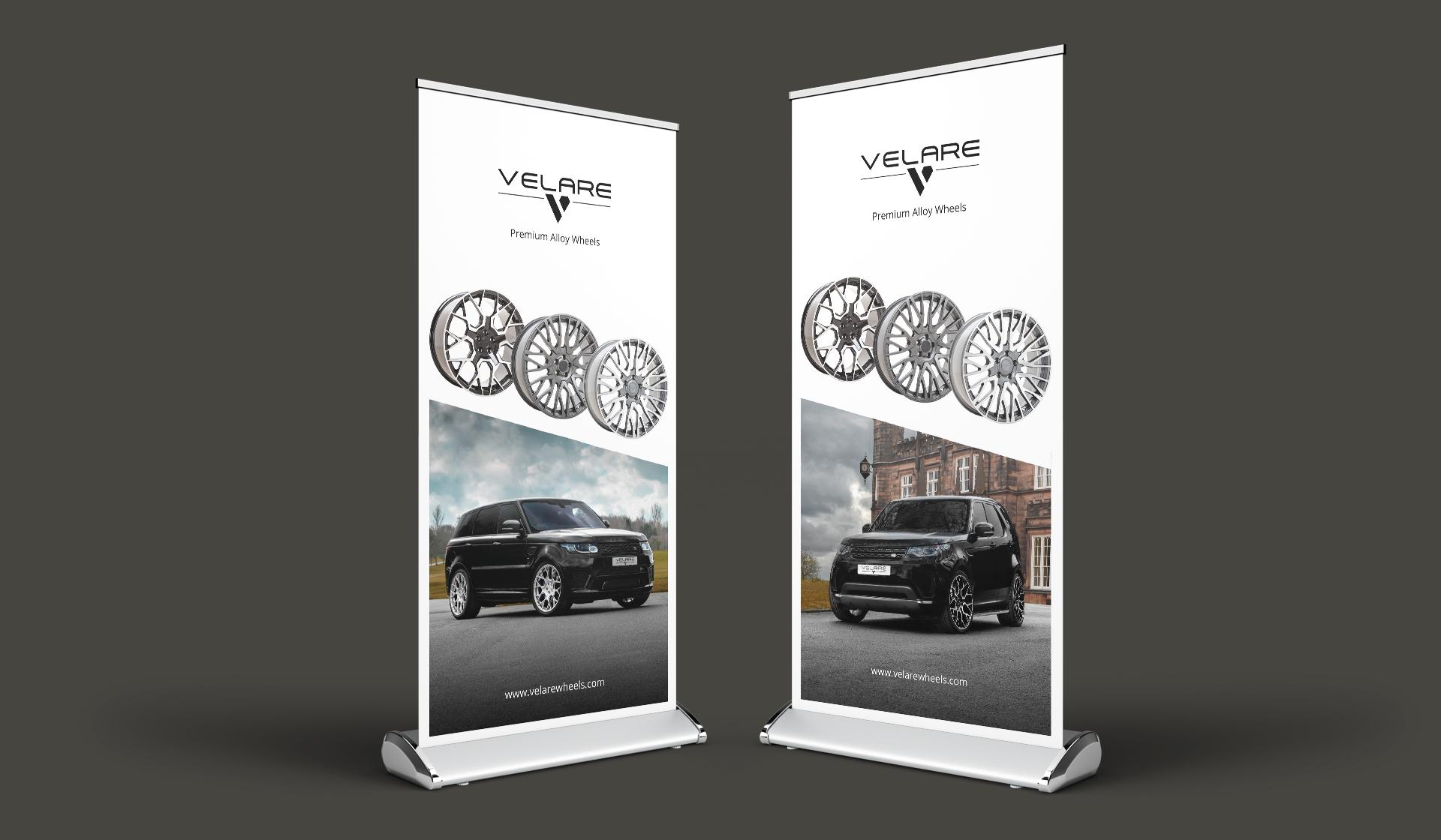 velare wheels roller banner