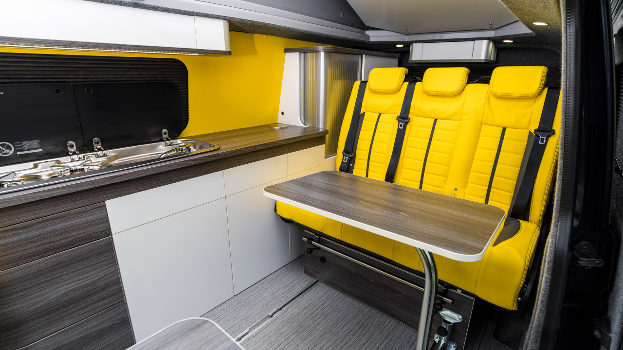 volkswagen transporter yellow interior camper conversion wipdesigns photography 1