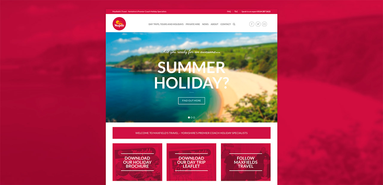 Maxfields Travel Website Design Wipdesigns 1