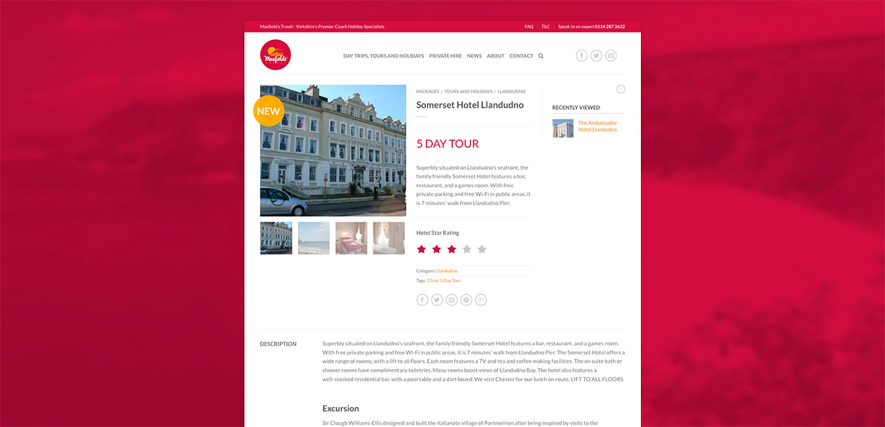Maxfields Travel Website Design Wipdesigns 10