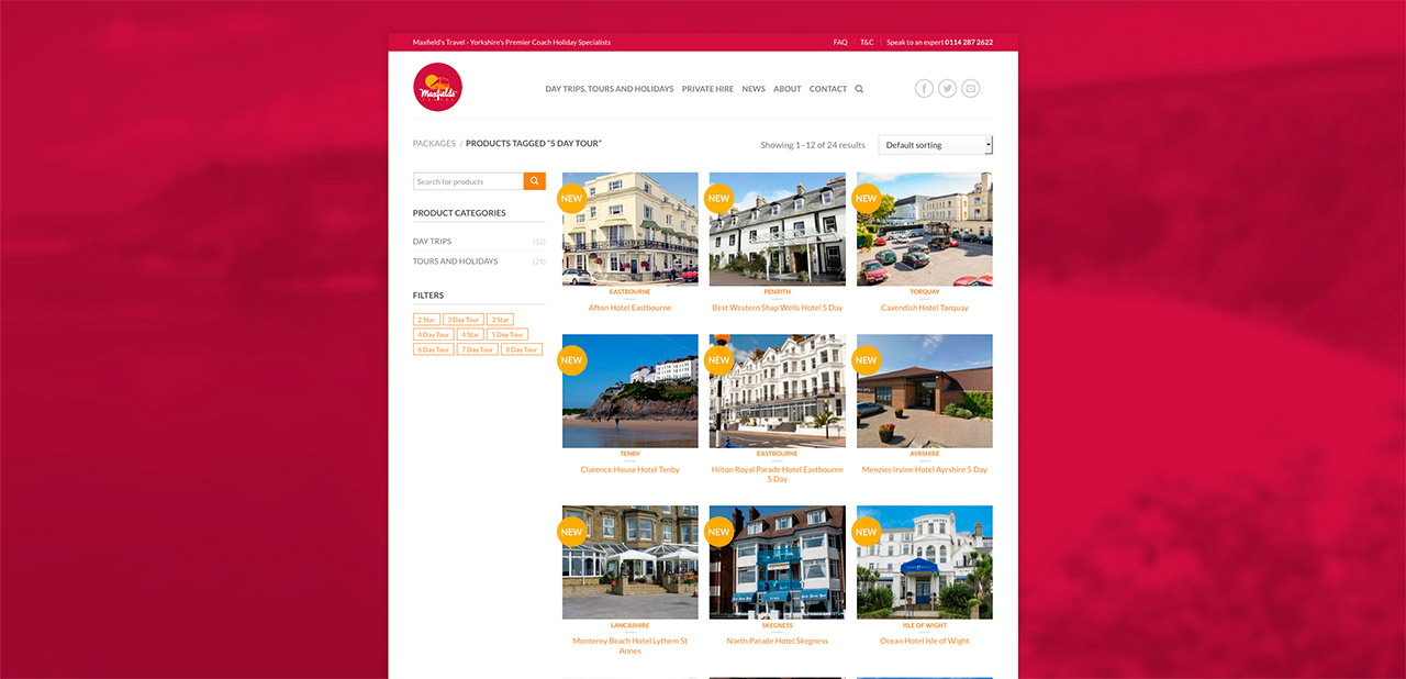 Maxfields Travel Website Design Wipdesigns 12