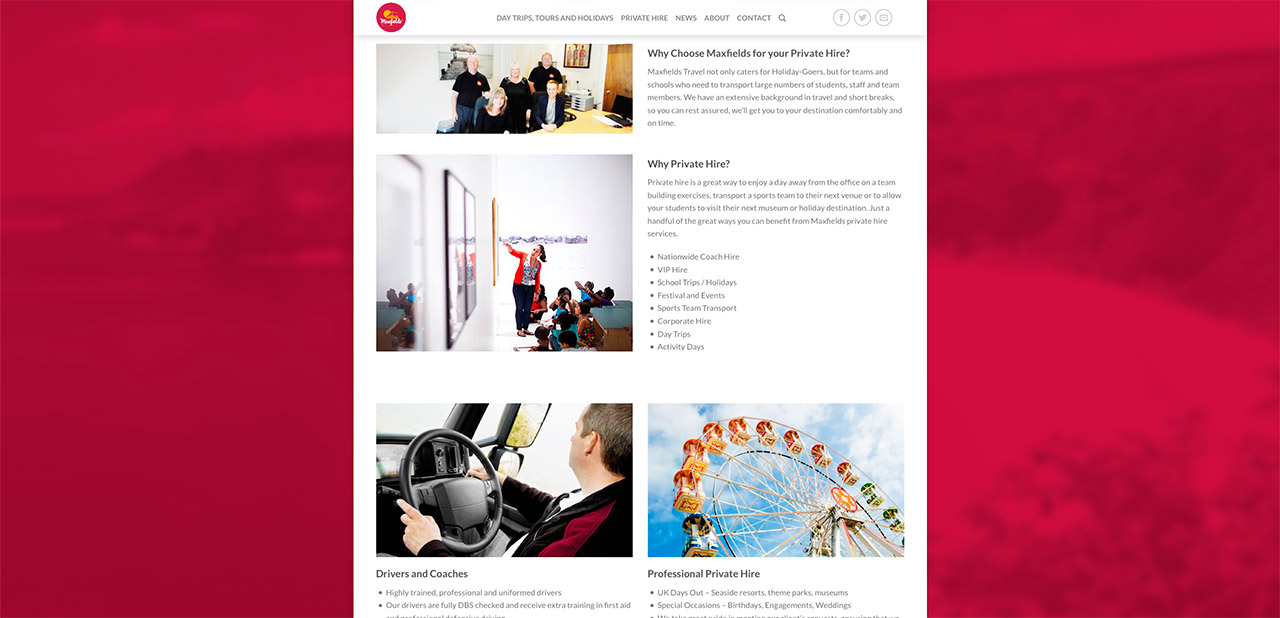 Maxfields Travel Website Design Wipdesigns 14