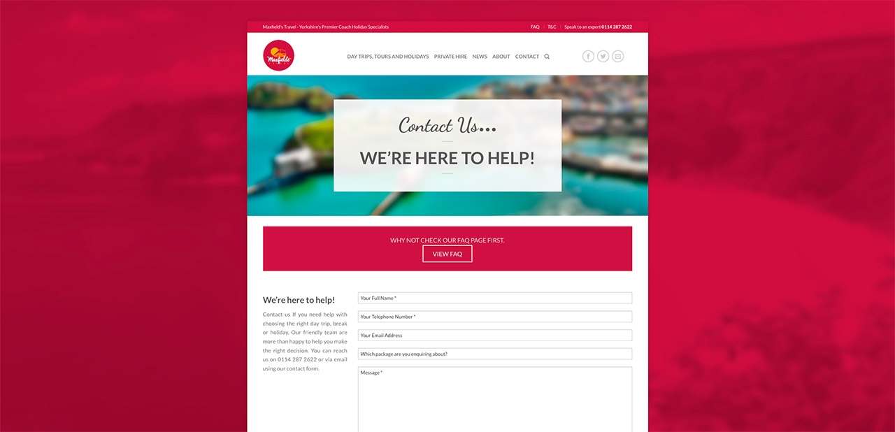 Maxfields Travel Website Design Wipdesigns 20