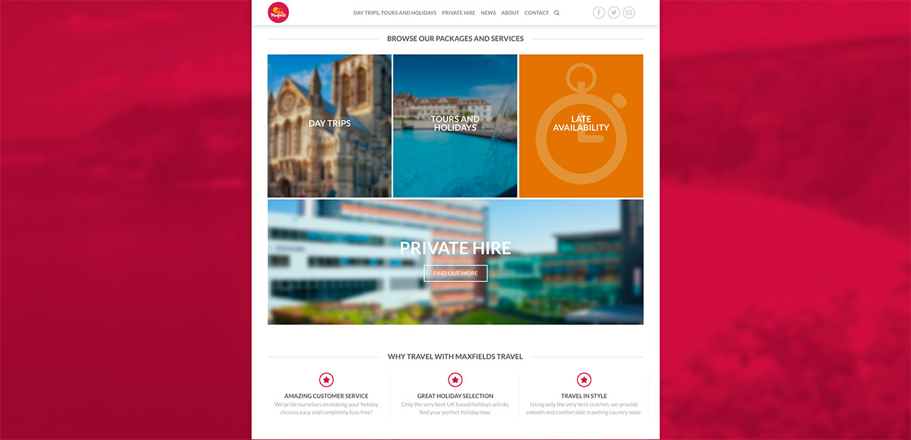 Maxfields Travel Website Design Wipdesigns 4