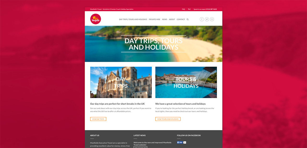 Maxfields Travel Website Design Wipdesigns 5