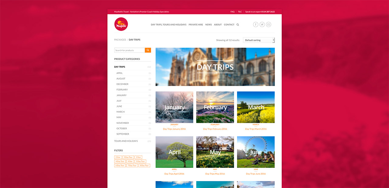 Maxfields Travel Ecommerce Website Maxfields Travel Website Design Wipdesigns 6 Wipdesigns Photographer