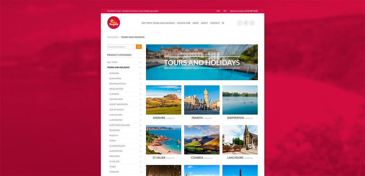 Maxfields Travel Website Design Wipdesigns 8