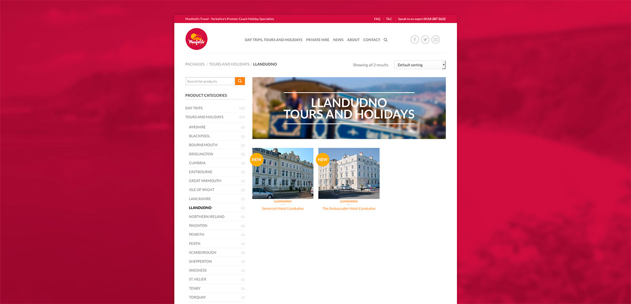 Maxfields Travel Website Design Wipdesigns 9
