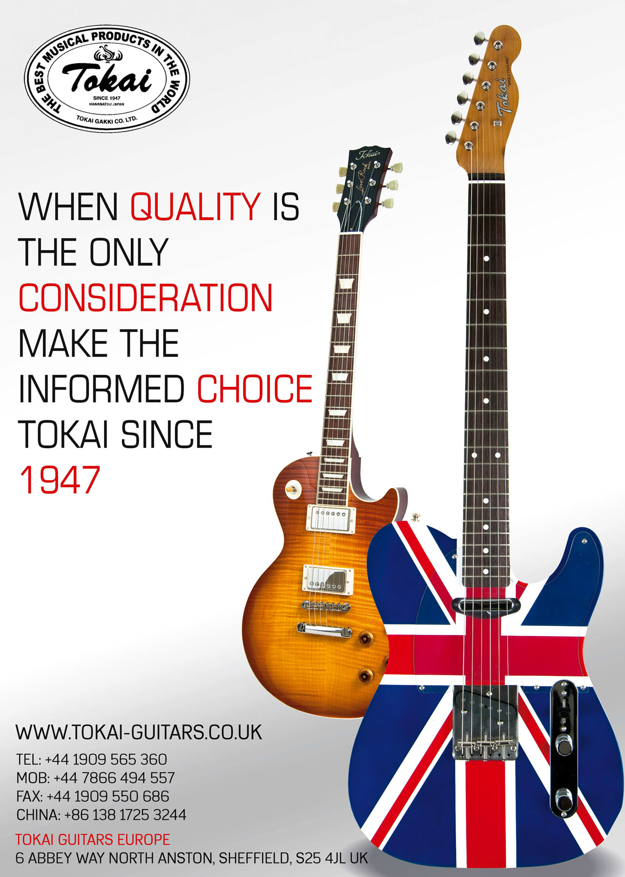 Tokai Guitars Product Photography by Wipdesigns Product Photographer Sheffield 14