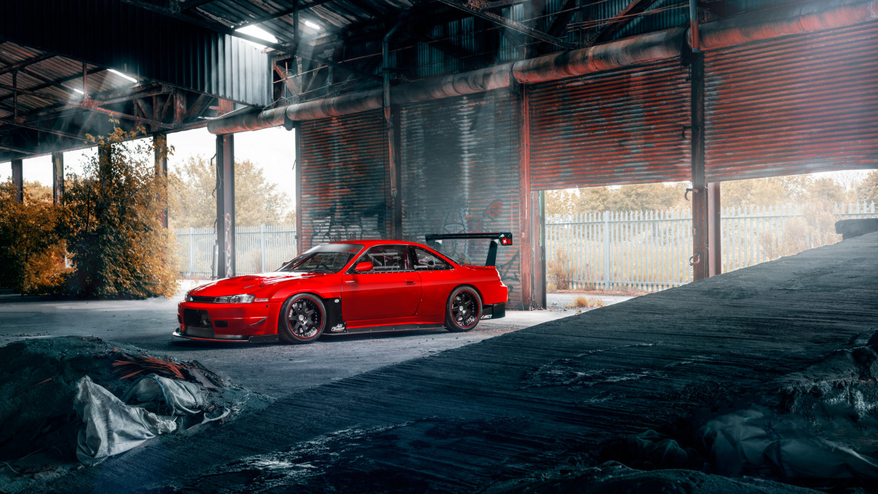 Wipdesigns automotive transport photographer Sheffield 114 Nissan Silvia S14 Red