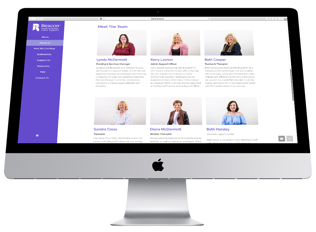 beacon south yorkshire website design imac 2