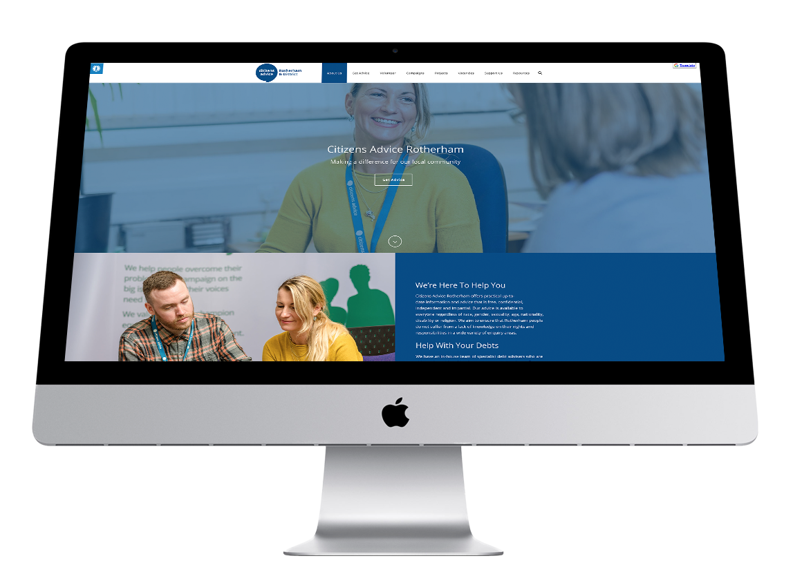 Citizens advice rotherham website design