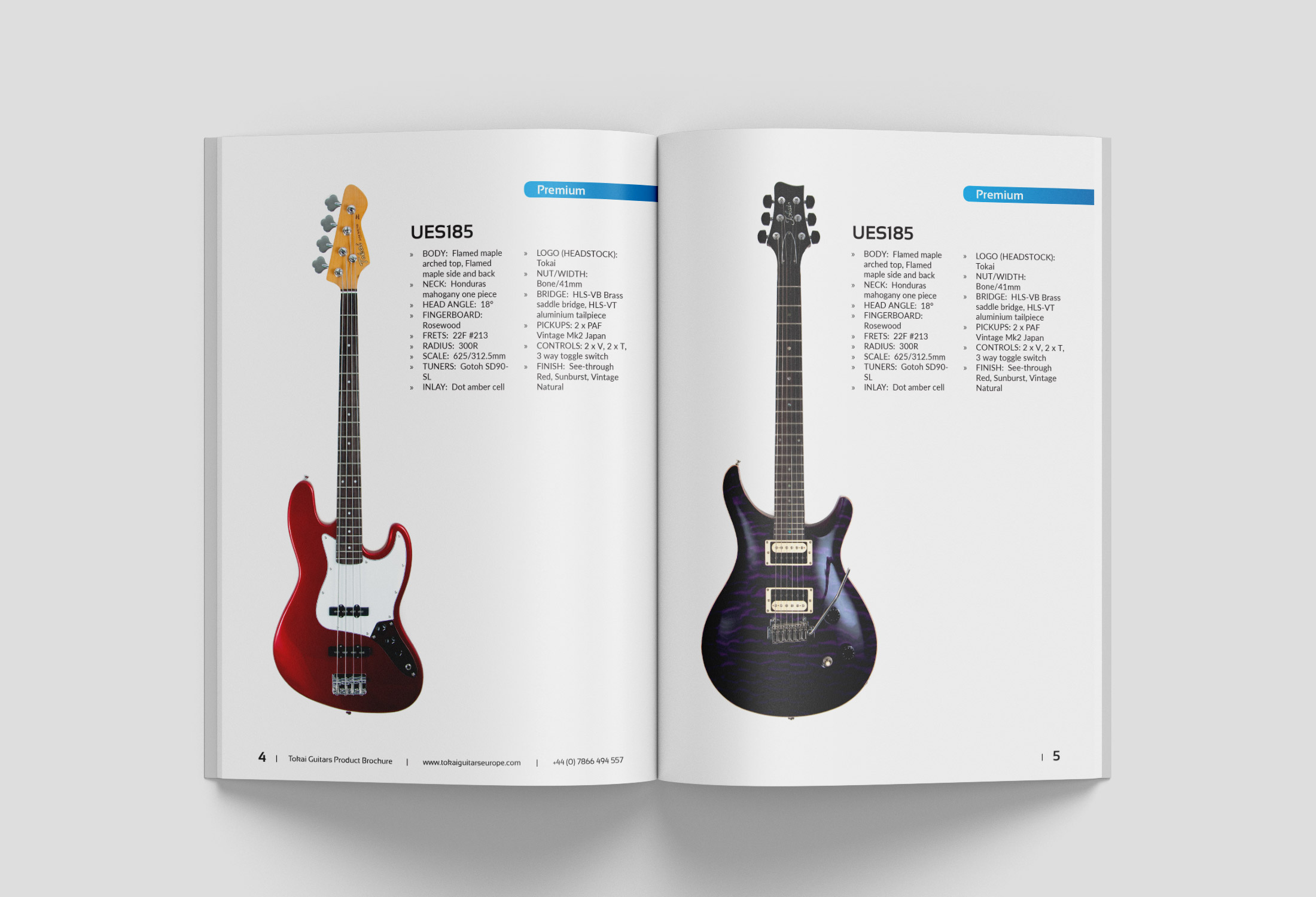 Tokai Guitars Magazine Flat Lay 2