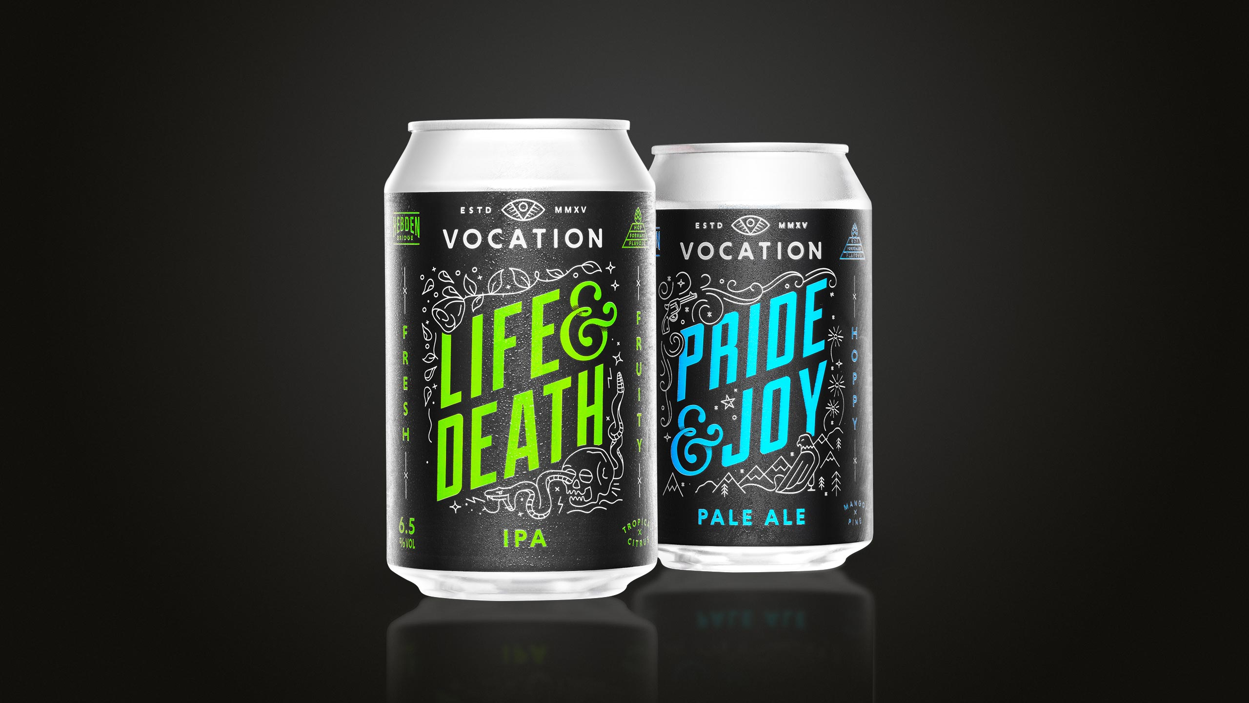 Vocation Brewery Life and Death Pride and Joy Product Photography by wipdesigns.com