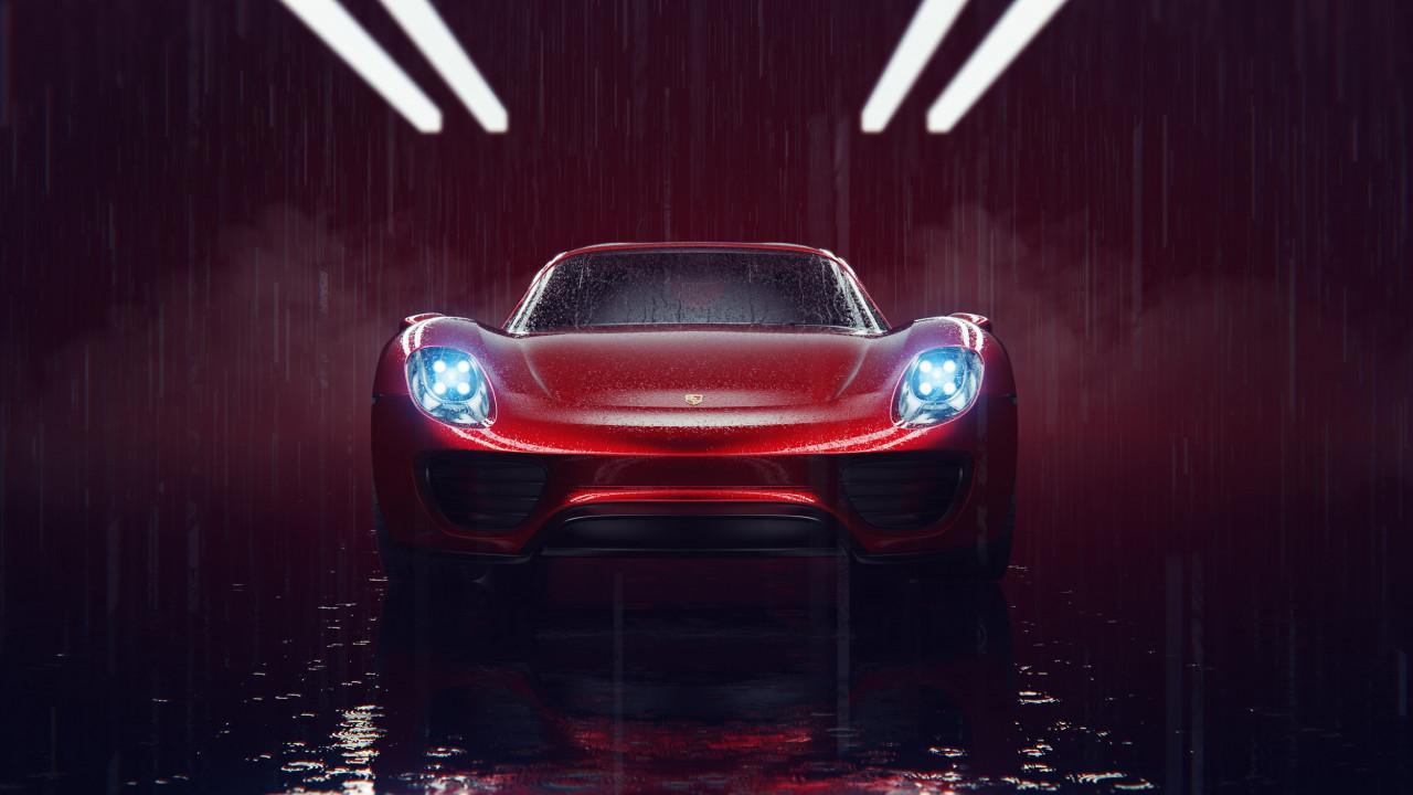 Porsche 918 Spyder wipdesigns automotive cgi visualisation uk 3