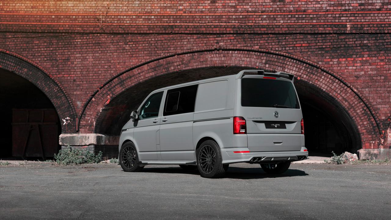Velare Wheels VLR11 Diamond Black VW Transporter T6 1 Rear Left